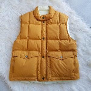Vintage 70's Style Men's Mustard Down Puffer Vest